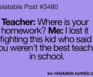 teacher, school, and funny image