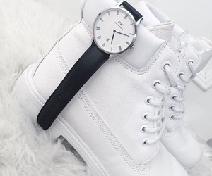 shoes, watch, and white image