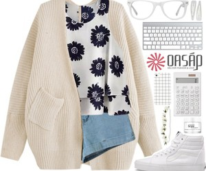 cardigan, casual, and style image