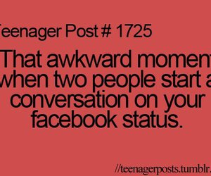 teenager post, awkward, and conversation image
