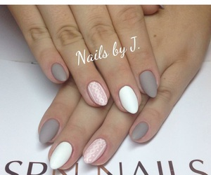 almond, grey, and nails image