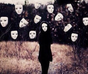 mask, creepy, and face image