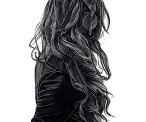 girl, music, and drawing image