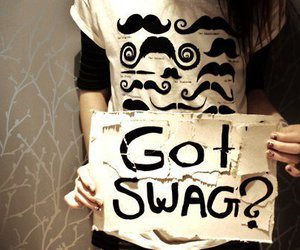 swag, mustache, and moustache image