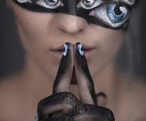 eyes, black, and art image