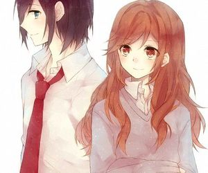 anime, horimiya, and couple image
