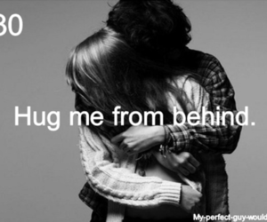 hug, boyfriend, and behind image
