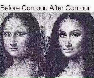 after, mona lisa, and before image