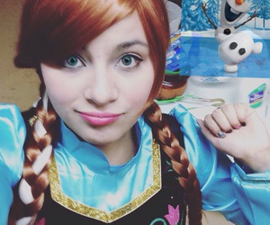 anna, blue, and cosplay image
