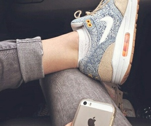 nike, iphone, and shoes image