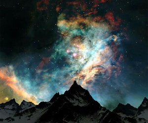 background, northern lights, and sky image
