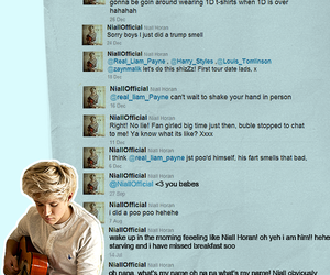 twitter, niall horan, and one direction image