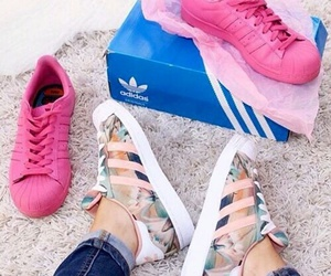 shoes, adidas, and superstar image