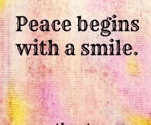 quote, smile, and peace image