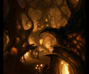 forest, art, and fantasy image