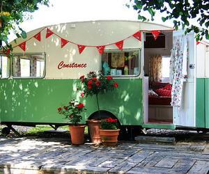 Caravan, vintage, and green image