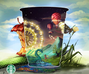 beautiful, colourful, and frappuccino image