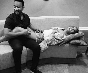 couple, love, and chrissy teigen image