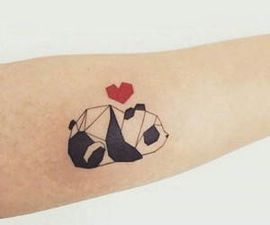 tattoo, panda, and cute image