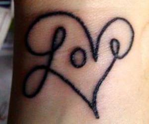 heart, tatto, and love image