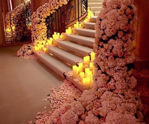 flowers, candle, and wedding image