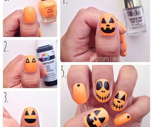 idea, nails, and Halloween image