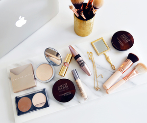 makeup, beauty, and apple image
