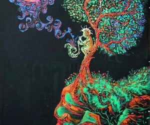 art, tree, and colors image