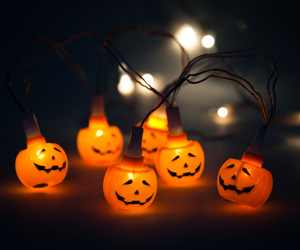 creepy, Halloween, and lights image