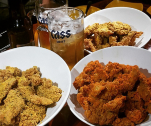 beer, fried chicken, and korea image