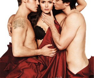 ian somerhalder, Nina Dobrev, and paul wesley image
