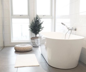 interior, white, and bathroom image
