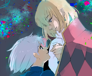howl's moving castle, anime, and couple image