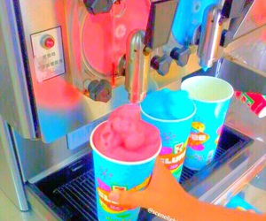 blue, pink, and summer image