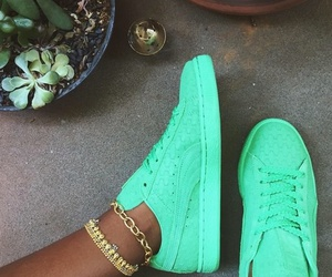 shoes and green image