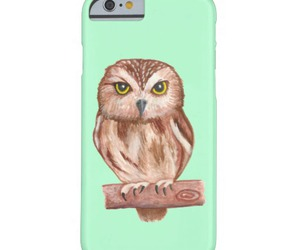 mint, owl, and women image