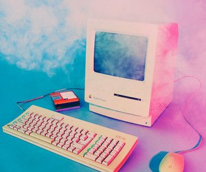 pink, computer, and the 1975 image