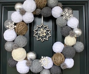 christmas, wreath, and decoration image