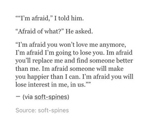 afraid, quote, and love image