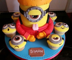cake, minion, and yellow image