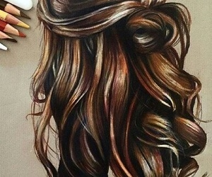 arte, hair, and cabello image