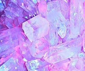 pink, crystal, and wallpaper image