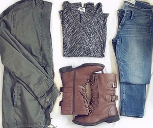 combat boots, fall, and fashion image