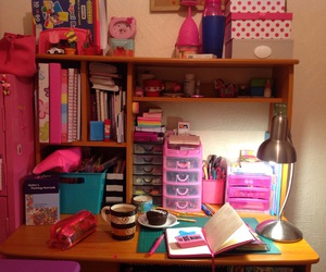 books, chocolate, and clock image