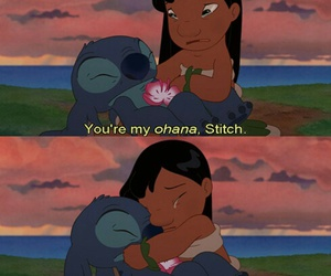 stitch, ohana, and disney image