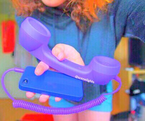 phone, tumblr, and purple image