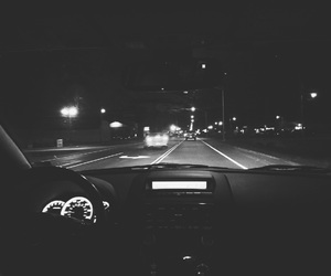 black and white, car, and drive image