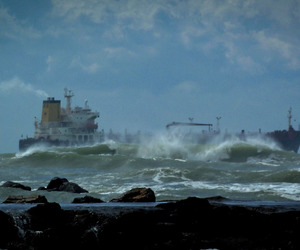 tanker in rough seas image