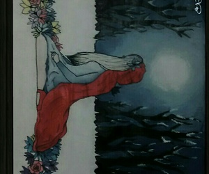 art, draw, and little red riding hood image
