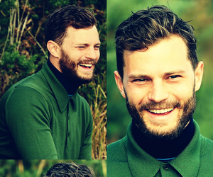 beard, fifty shades of grey, and Jamie Dornan image